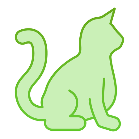 Cat flat icon. Animal green icons in trendy flat style. Kitty gradient style design, designed for web and app. Eps 10.