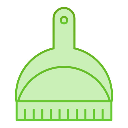 Cat litter shovel flat icon. Scoop green icons in trendy flat style. Clean gradient style design, designed for web and app. Eps 10. Vectores