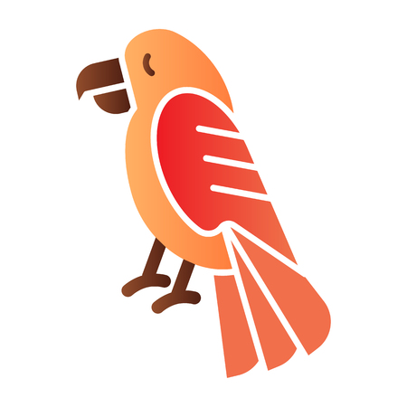 Parrot flat icon. Animal color icons in trendy flat style. Bird gradient style design, designed for web and app. Eps 10.