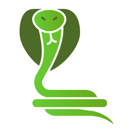 Snake flat icon. Animal color icons in trendy flat style. Reptile gradient style design, designed for web and app. Eps 10. Banque d'images - 120807975