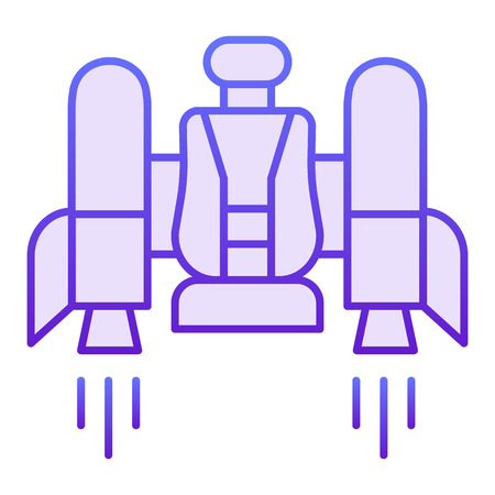 Jetpack flat icon. Jetpack with a chair violet icons in trendy flat style. Future technology gradient style design, designed for web and app. Eps 10.