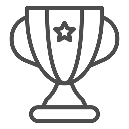 Trophy line icon. Winner cup vector illustration isolated on white. Award goblet outline style design, designed for web and app. Eps 10. Vector Illustratie