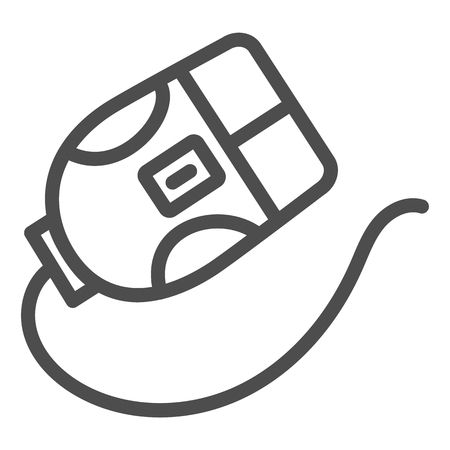 Computer mouse line icon. Click vector illustration isolated on white. Device outline style design, designed for web and app. Eps 10. Ilustração