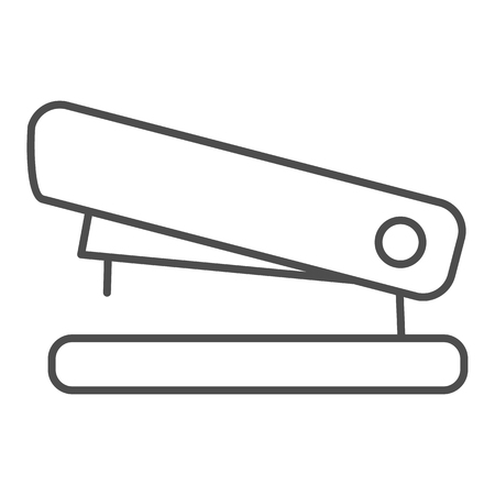 Stapler thin line icon. Staple vector illustration isolated on white. Tool outline style design, designed for web and app. Eps 10.