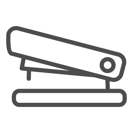 Icône de ligne d'agrafeuse. Illustration vectorielle de base isolée sur blanc. Conception de style de contour d'outil, conçue pour le Web et l'application. Eps 10. Vecteurs