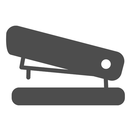 Stapler solid icon. Staple vector illustration isolated on white. Tool glyph style design, designed for web and app. Eps 10.