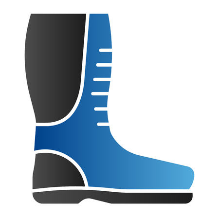 Autamn boots flat icon. Rubber boots color icons in trendy flat style. Protective footwear gradient style design, designed for web and app. Eps 10
