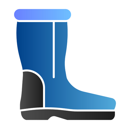Wool boots flat icon. Warm shoes color icons in trendy flat style. Felt boot gradient style design, designed for web and app. Eps 10