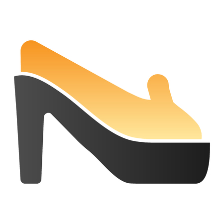 Shoes on heels flat icon. High heels color icons in trendy flat style. Woman footwear gradient style design, designed for web and app. Eps 10