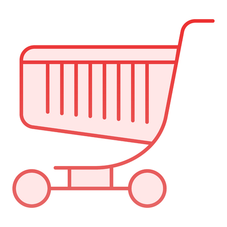 Shopping trolley flat icon. Market truck pink icons in trendy flat style. Cart gradient style design, designed for web and app. Eps 10.