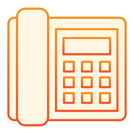Landline phone flat icon. Call orange icons in trendy flat style. Telephone gradient style design, designed for web and app. Eps 10.