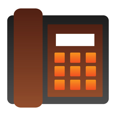 Landline phone flat icon. Call color icons in trendy flat style. Telephone gradient style design, designed for web and app. Eps 10. Illustration