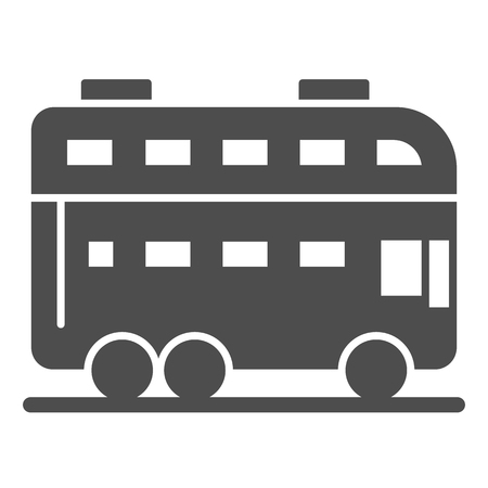 London bus solid icon. Double decker bus vector illustration isolated on white. Travel glyph style design, designed for web and app.
