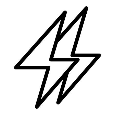 Ikona linii energetycznej. Ilustracja energii elektrycznej na białym tle. Projekt w stylu błyskawicy, zaprojektowany dla sieci i aplikacji. Ilustracje wektorowe