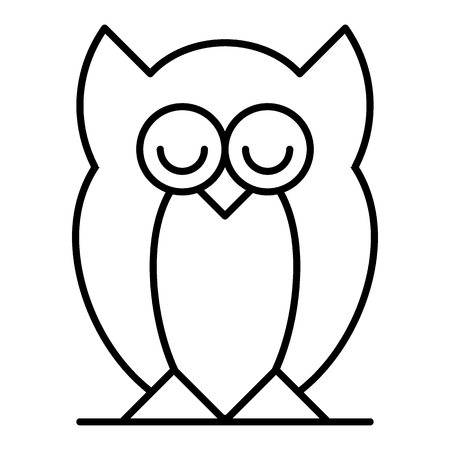 Owl thin line icon. Bird vector illustration isolated on white. Animal outline style design, designed for web and app.
