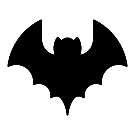 Bat solid icon. Animal vector illustration isolated on white. Vampire glyph style design, designed for web and app. Standard-Bild - 122758774