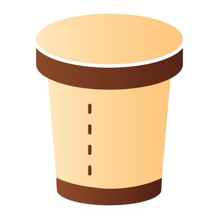 Coffee cup flat icon. Disposable cup color icons in trendy flat style. Paper cup gradient style design, designed for web and app.  イラスト・ベクター素材