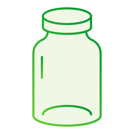 Jar flat icon. Glass gray icons in trendy flat style. Pot gradient style design, designed for web and app. Ilustração