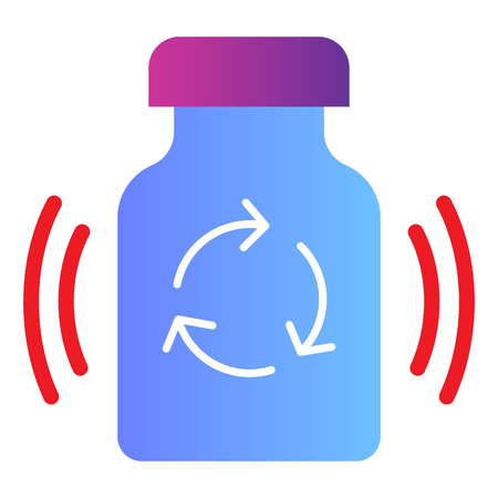 Recycling medication flat icon. Recycle drugs color icons in trendy flat style. Medicine pills recycling gradient style design, designed for web and app. Ilustração