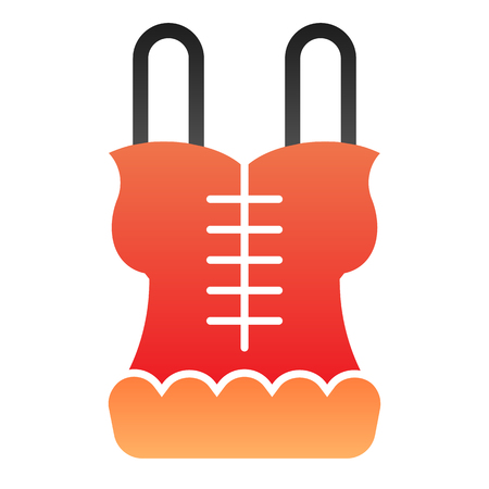 Corset flat icon. Lingerie color icons in trendy flat style. Underwear gradient style design, designed for web and app.