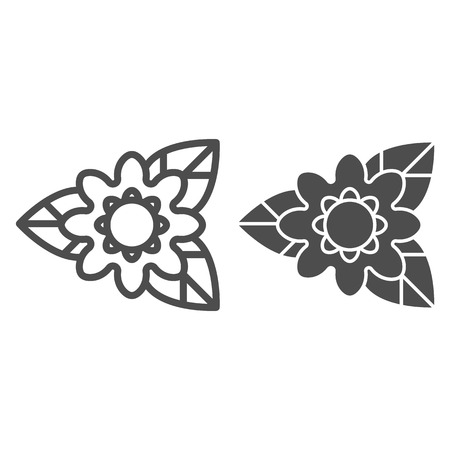 Rare flower line and glyph icon. Nature vector illustration isolated on white. Plant outline style design, designed for web and app.