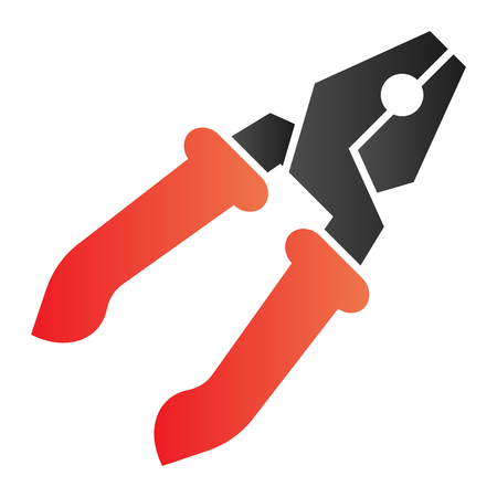 Pliers flat icon. Repair color icons in trendy flat style. Tool gradient style design, designed for web and app.