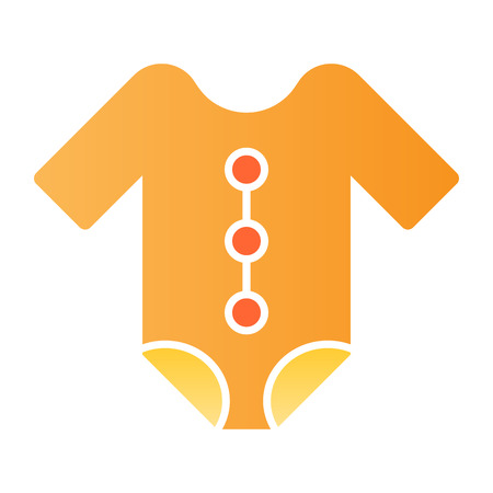 Baby romper flat icon. Newborn suit color icons in trendy flat style. Child clothes gradient style design, designed for web and app.