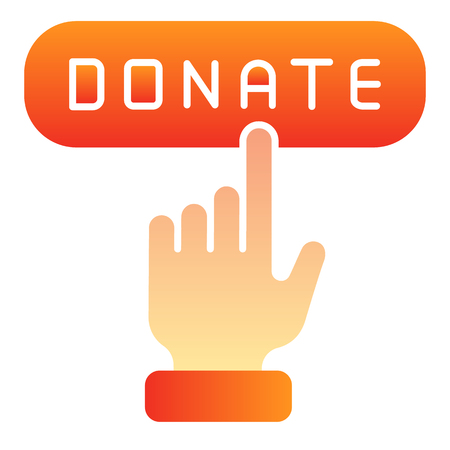 Online donation flat icon. Donate button color icons in trendy flat style. Help gradient style design, designed for web and app. Eps 10.