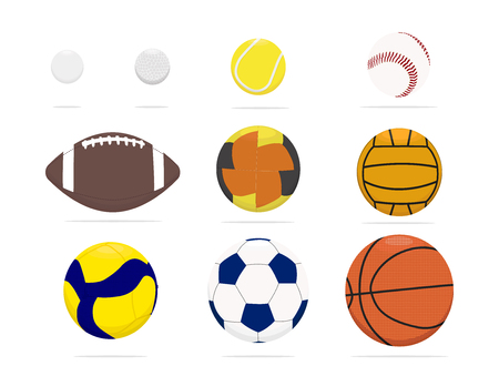 Sport balls realistic icon set, sport equipment symbols collection, vector sketches, logo illustrations, game ball signs linear pictograms package isolated on white background, eps 10.
