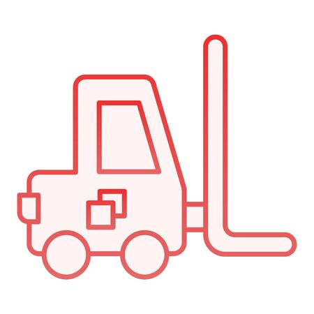 Forklift flat icon. Loader red icons in trendy flat style. Transport gradient style design, designed for web and app. Eps 10.