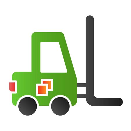 Forklift flat icon. Loader color icons in trendy flat style. Transport gradient style design, designed for web and app. Eps 10.