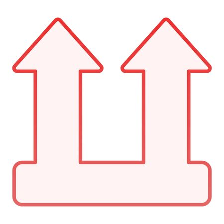 Cargo load sign flat icon. Load arrow symbol red icons in trendy flat style. Lift gradient style design, designed for web and app. Eps 10. Illustration