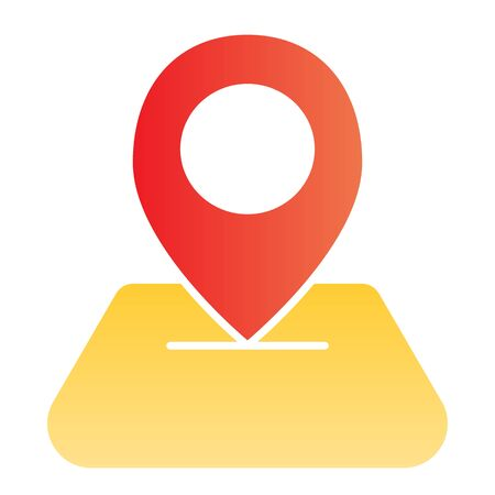 Map pin flat icon. Direction color icons in trendy flat style. Map pointer gradient style design, designed for web and app. Eps 10. Illustration