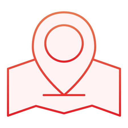 Map with location pin flat icon. Gps red icons in trendy flat style. Map pointer gradient style design, designed for web and app. Eps 10. Illustration