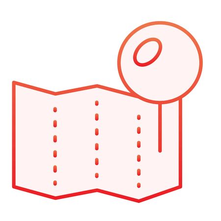 Location pin on map flat icon. Paper pin red icons in trendy flat style. Push pin gradient style design, designed for web and app. Eps 10.