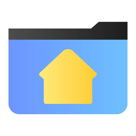 Home folder flat icon. Folder with house color icons in trendy flat style. Computer folder gradient style design, designed for web and app. Eps 10. 向量圖像