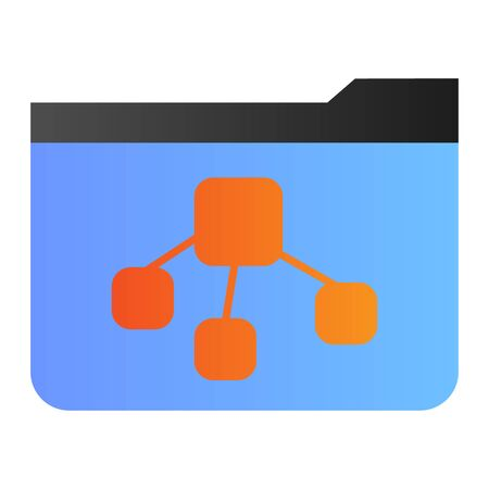 File tree folder flat icon. Folder with document color icons in trendy flat style. Computer folder gradient style design, designed for web and app. Eps 10. 向量圖像