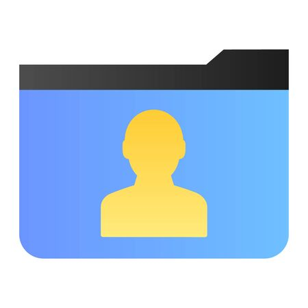 Personal folder flat icon. Member folder color icons in trendy flat style. Computer folder gradient style design, designed for web and app. Eps 10. 向量圖像