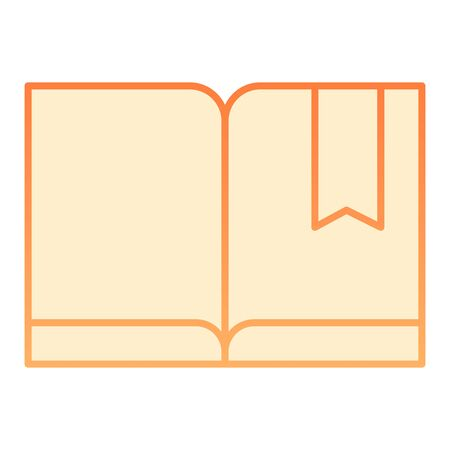 Bookmark with book flat icon. Read orange icons in trendy flat style. Knowledge gradient style design, designed for web and app. Eps 10. Ilustrace