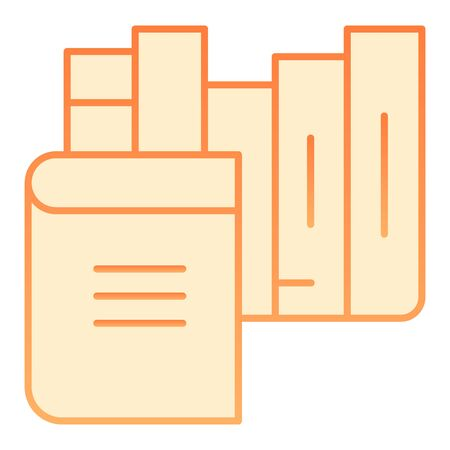 Books flat icon. Bookshelf orange icons in trendy flat style. Library gradient style design, designed for web and app. Eps 10.