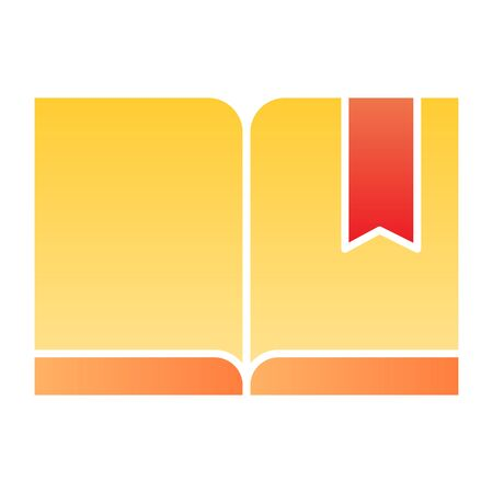 Bookmark with book flat icon. Read color icons in trendy flat style. Knowledge gradient style design, designed for web and app. Eps 10.