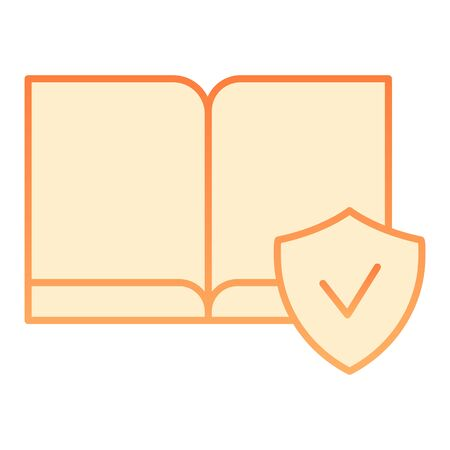 Ebooks available flat icon. Electronic book orange icons in trendy flat style. Cheked book gradient style design, designed for web and app. Eps 10.