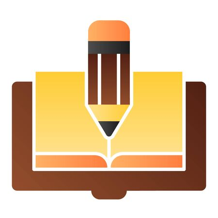 Book and pencil flat icon. Book edit color icons in trendy flat style. Knowledge gradient style design, designed for web and app. Eps 10. Ilustrace