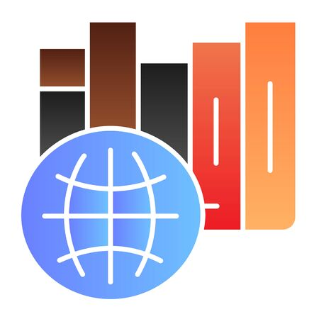 International library flat icon. International education color icons in trendy flat style. Learning gradient style design, designed for web and app. Eps 10.