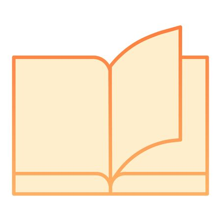 Book flat icon. Education orange icons in trendy flat style. Learning gradient style design, designed for web and app. Eps 10.