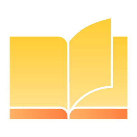 Book flat icon. Education color icons in trendy flat style. Learning gradient style design, designed for web and app. Eps 10.