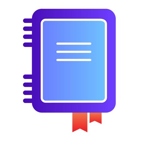 Notebook flat icon. Notepad color icons in trendy flat style. Note gradient style design, designed for web and app. Eps 10. Ilustrace