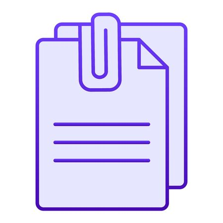 Attached document flat icon. Papers with clip blue icons in trendy flat style. Sheets gradient style design, designed for web and app. Eps 10. Reklamní fotografie - 125080354