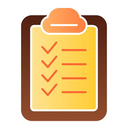 Checklist flat icon. Checkboard color icons in trendy flat style. List gradient style design, designed for web and app. Eps 10.