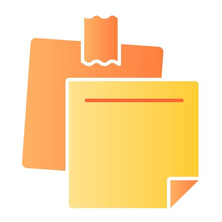 Notepaper flat icon. Sticky notes color icons in trendy flat style. Paper stickers gradient style design, designed for web and app. Eps 10. Ilustrace